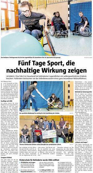 ProFiliis unterstützt Sportfreizeit für Schule am Marsbruch