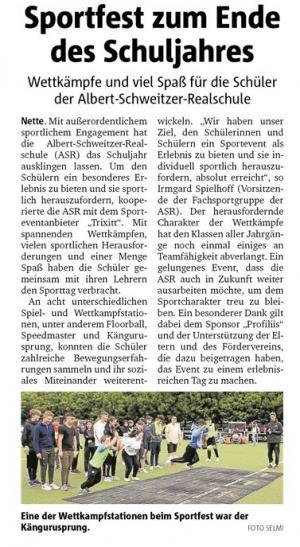 Trixitt Event an Albert-Schweitzer-Realschule