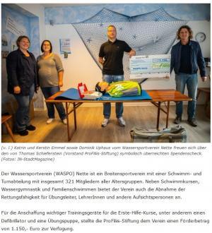 ProFiliis fördert den Wassersportverein Nette