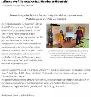 Unterstützung für Kita Erdbeerfeld